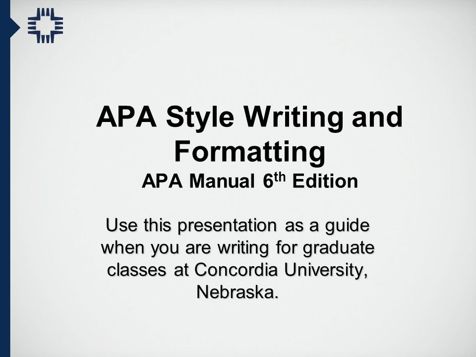 APA Style Writing and Formatting APA Manual 6th Edition - ppt video