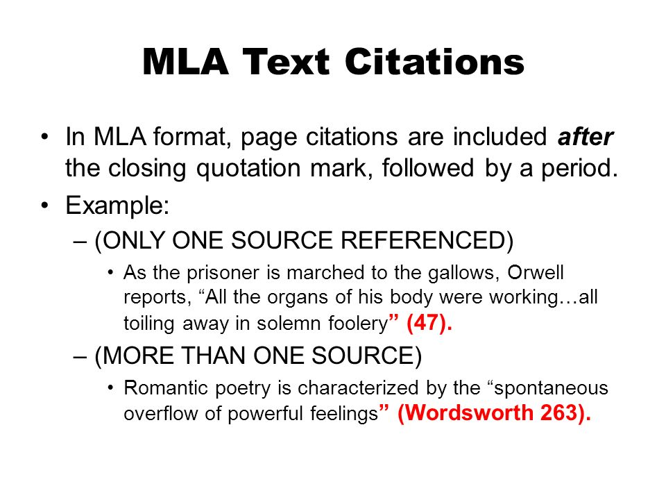 Mla format quotes Homework Service - mla source format