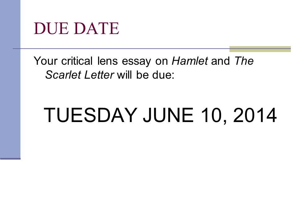 HAMLET and THE SCARLET LETTER - ppt download