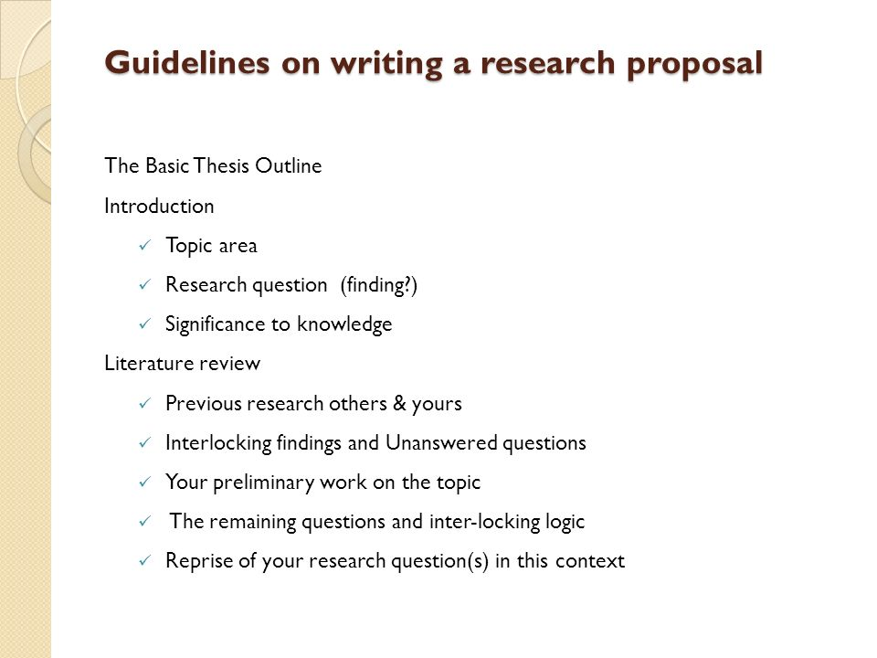 Literature review in thesis proposal Research paper Academic Writing