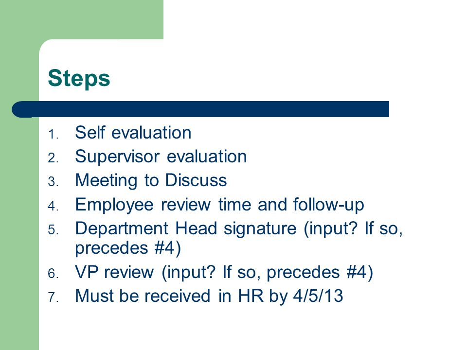 Staff Performance Evaluation Process - ppt video online download