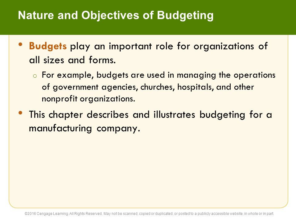22 Budgeting Accounting 26e C H A P T E R Warren Reeve Duchac - ppt