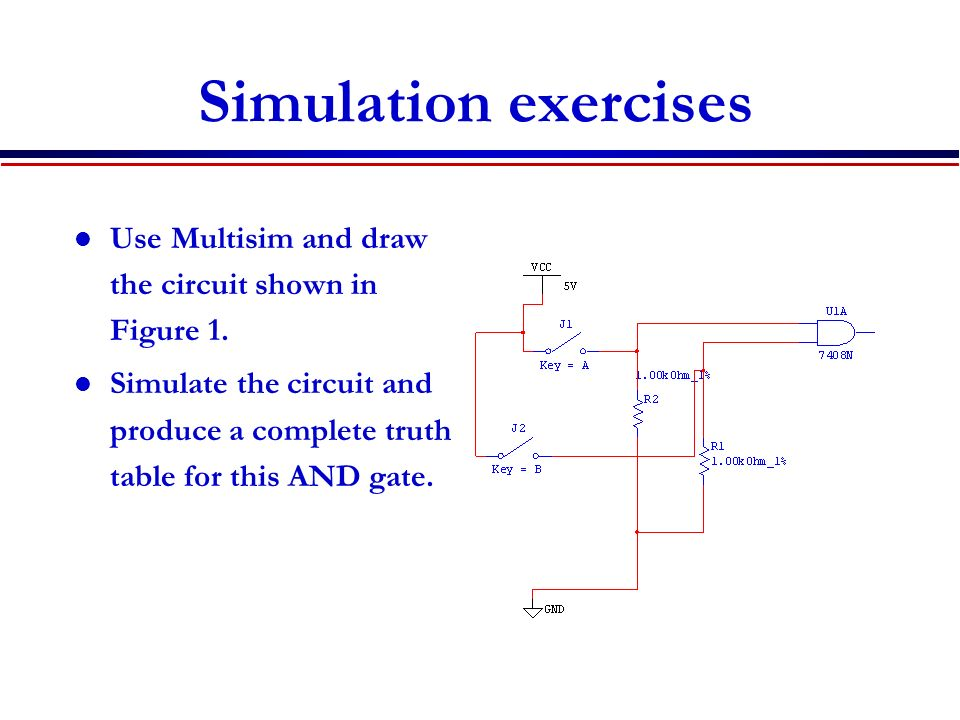 DeMorgan Theorem, Computer Simulation Exercises - ppt video online