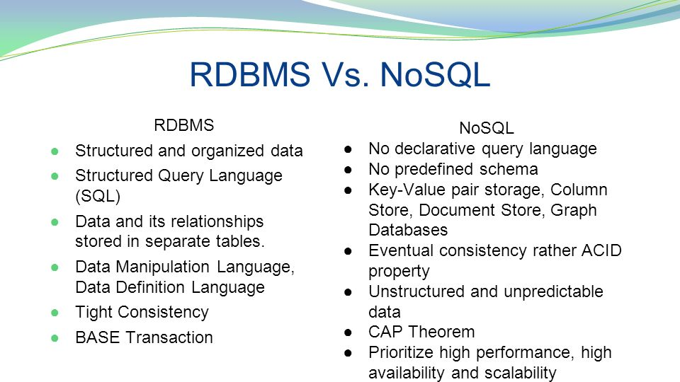 NoSQL by Michael Britton, Mark McGregor, and Sam Howard - ppt video