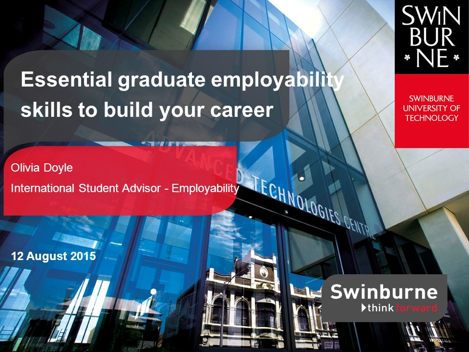 Essential graduate employability skills to build your career - ppt