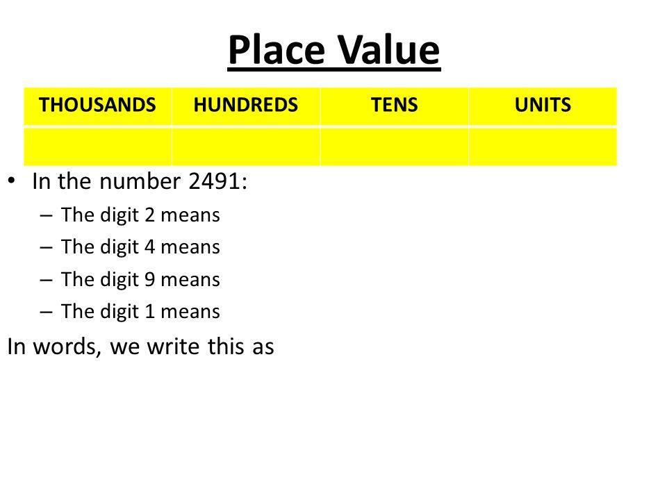 PLACE VALUE - ppt video online download - place value unit