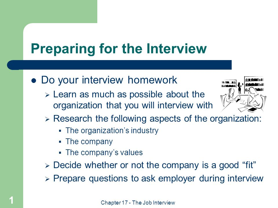 Preparing for the Interview - ppt video online download