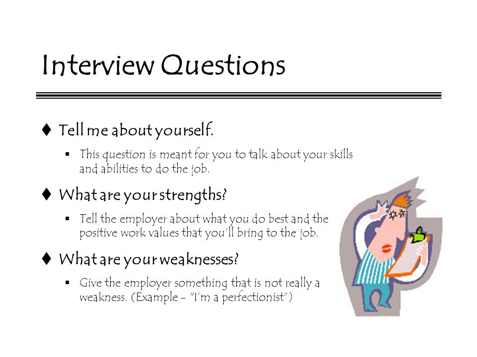 interview question weakness examples