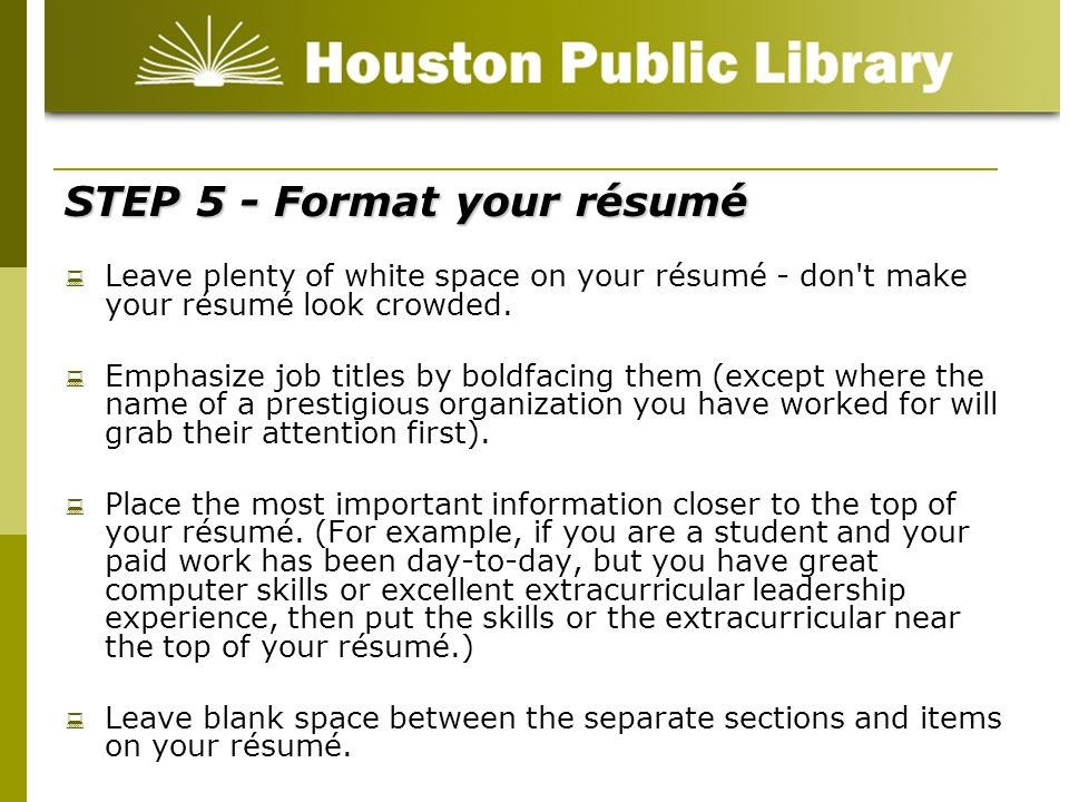 Résumé Writing for beginners - ppt video online download - how to make your resume look good