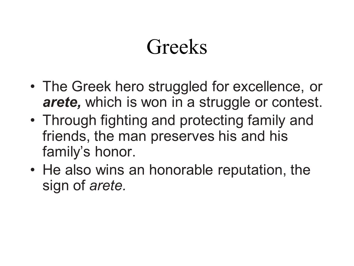 Arete From Greek Greeks Ppt Video Online Download