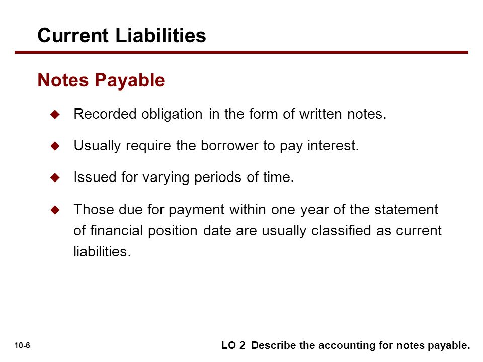 Liabilities Chapter 10 Learning Objectives - ppt download