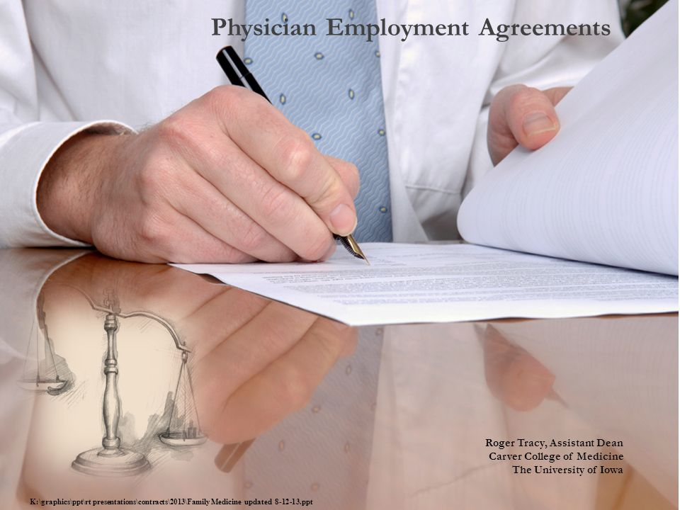 Physician Employment Agreements - ppt download - employment agreements