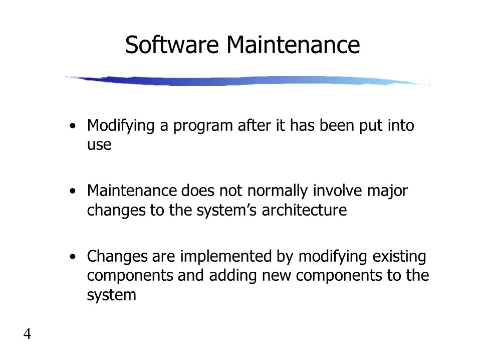 Software Engineering Lecture 20 Software Maintenance - ppt download