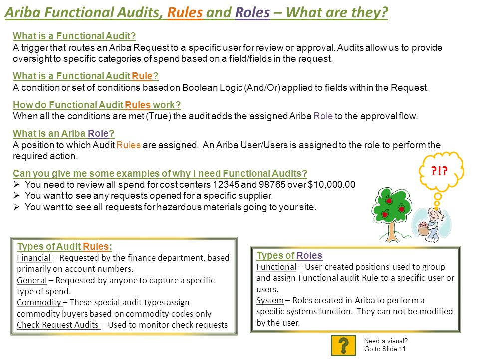 Ariba Functional Audits, Rules and Roles \u2013 What are they? - ppt