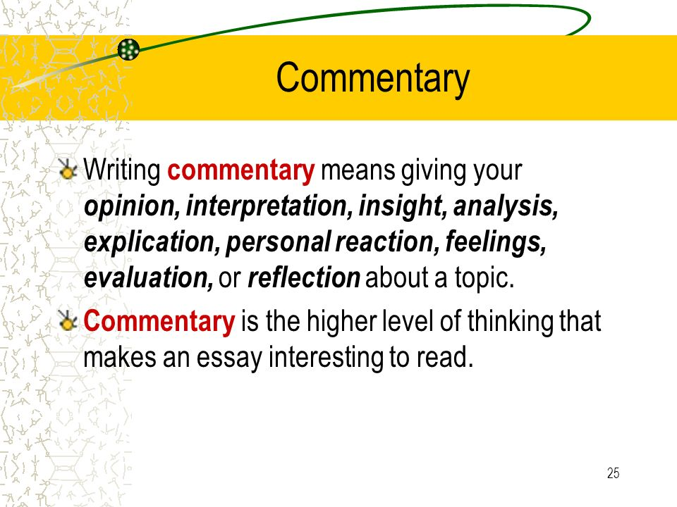 What Is Commentary In An Essay Mistyhamel