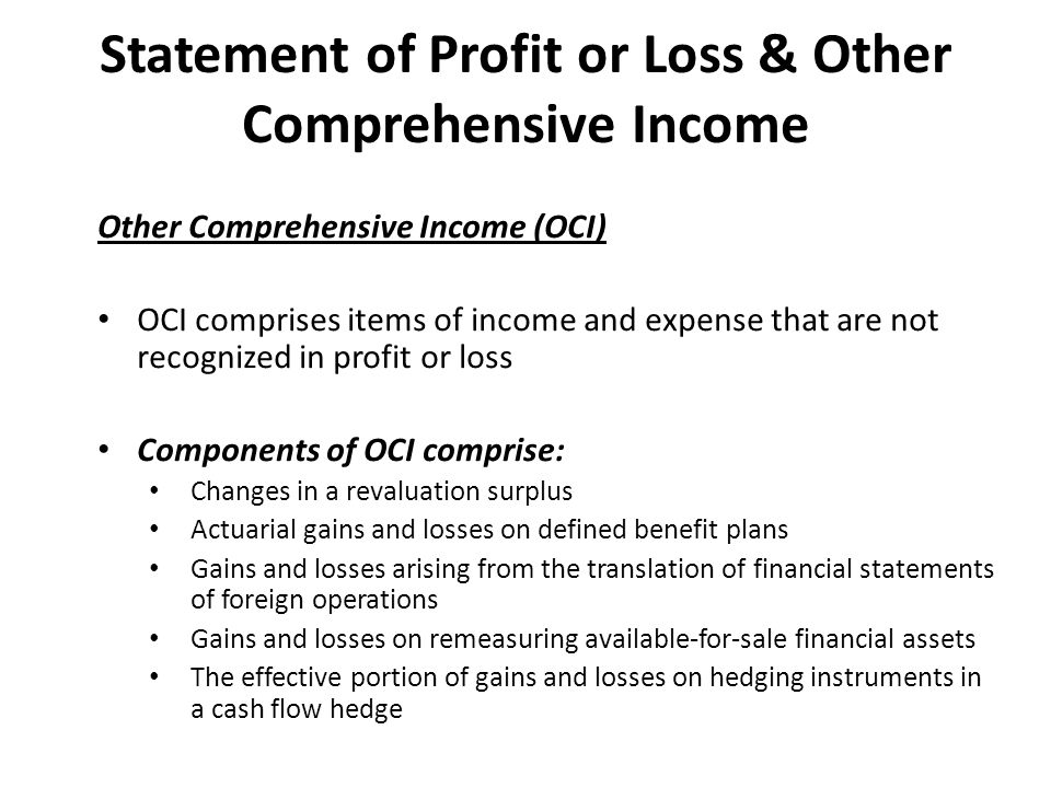 ACTG 6580 Chapters 4 and 5 \u2013 Income Statement, Statement of - components of income statement