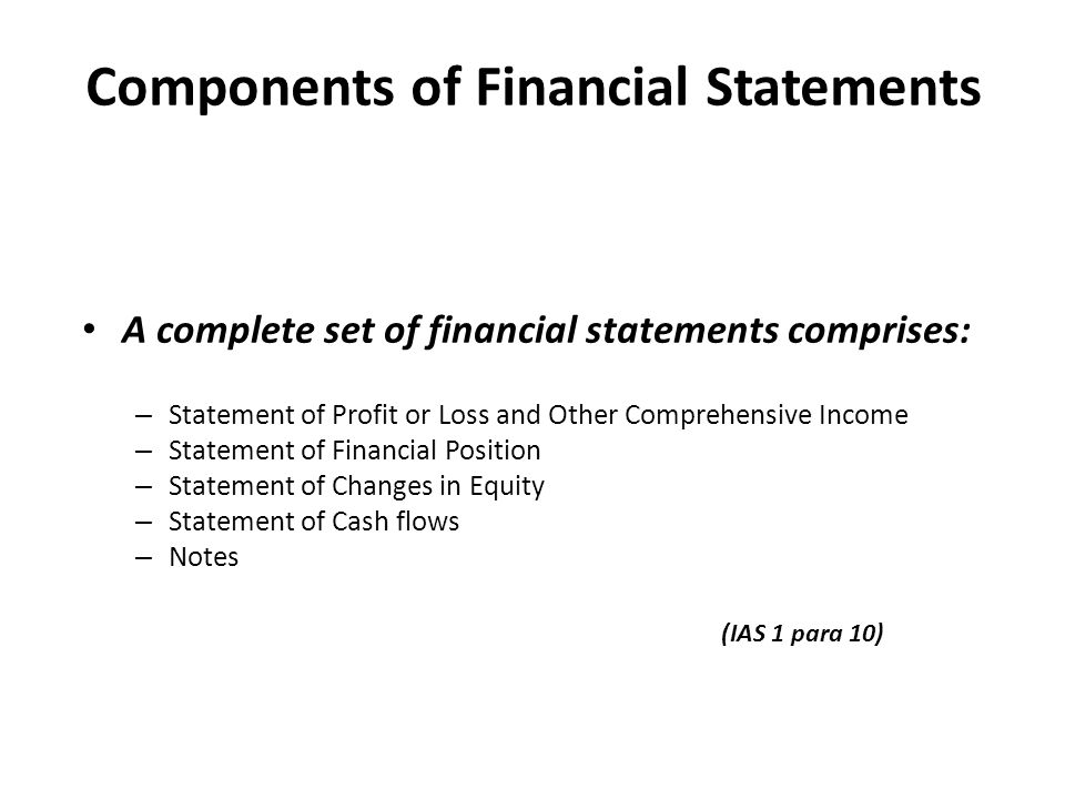 ACTG 6580 Chapters 4 and 5 \u2013 Income Statement, Statement of