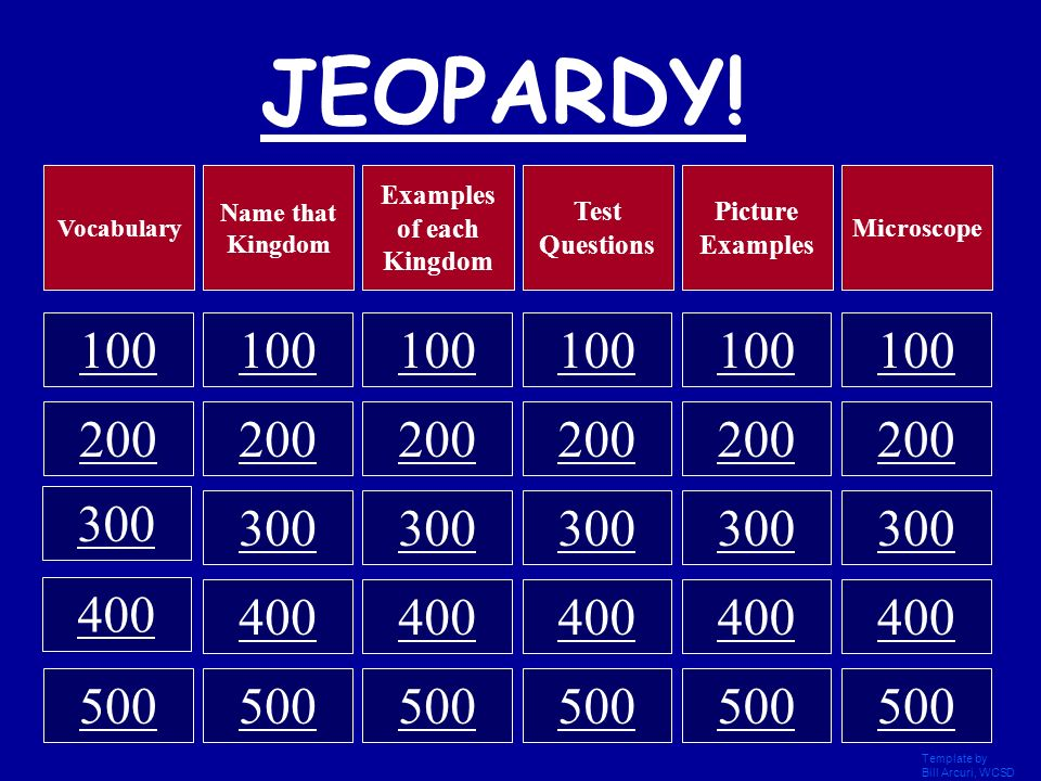 Life Science JEOPARDY! Template by Bill Arcuri, WCSD - ppt video