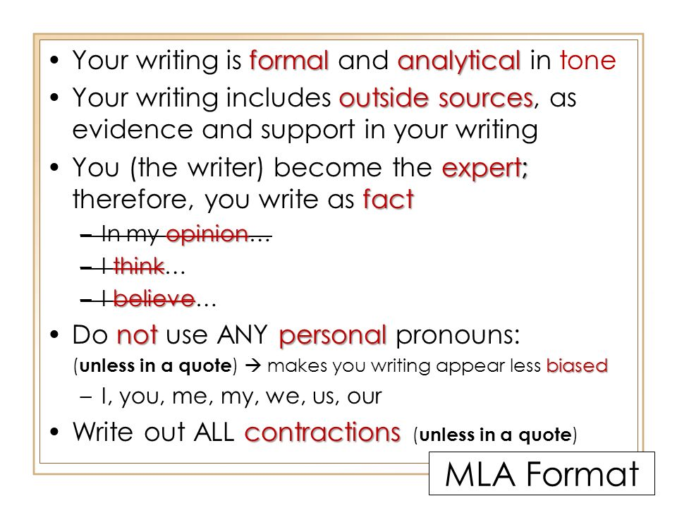 Writing a Short Response using MLA Parenthetical In-Text Citation