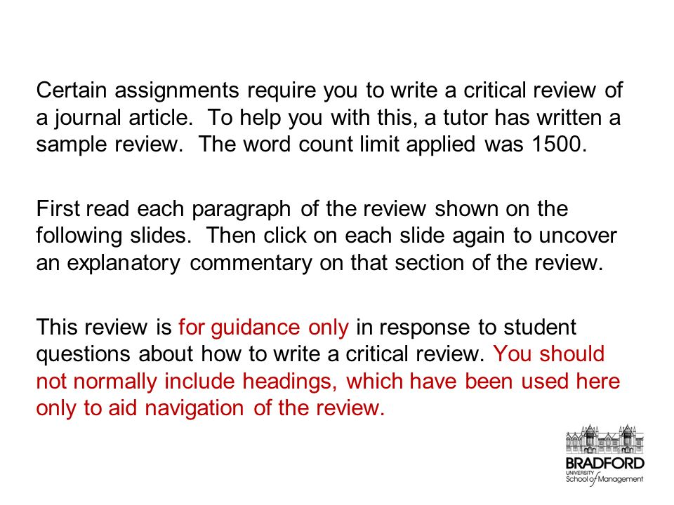Critically Review An Academic Journal Article A Sample Essay in the
