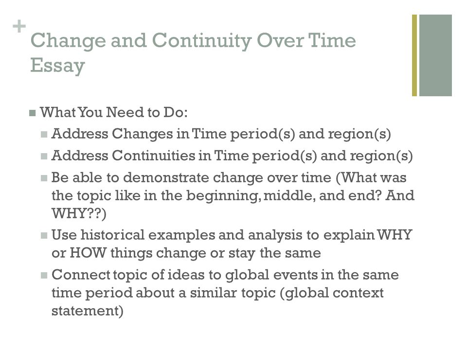 Change and Continuity Over Time Essay (CCOT) - ppt video online download