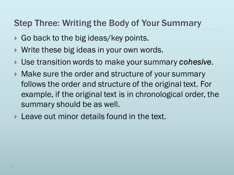 6 Steps to Writing an Objective Summary - ppt video online download
