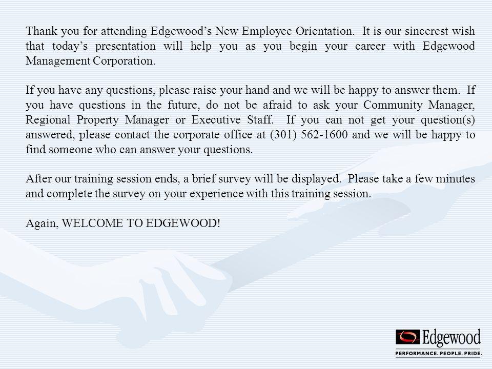 Edgewood Management Corporation - ppt download