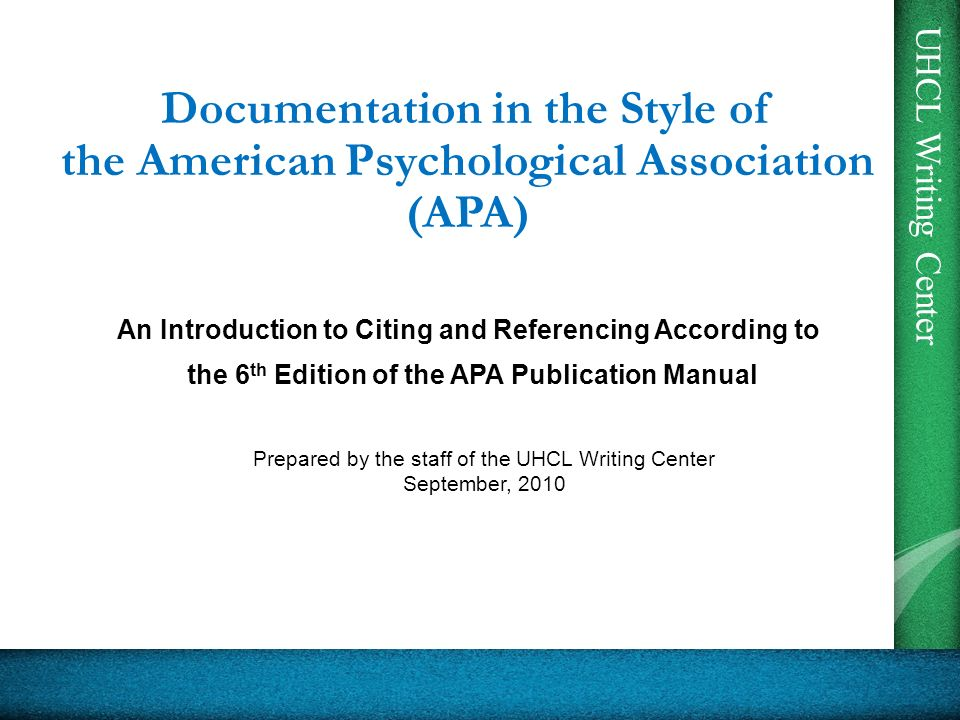 An Introduction to Citing and Referencing According to - ppt download