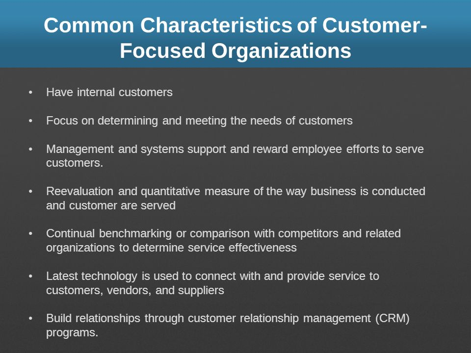 Learning Objectives 51 Define customer service and identify the