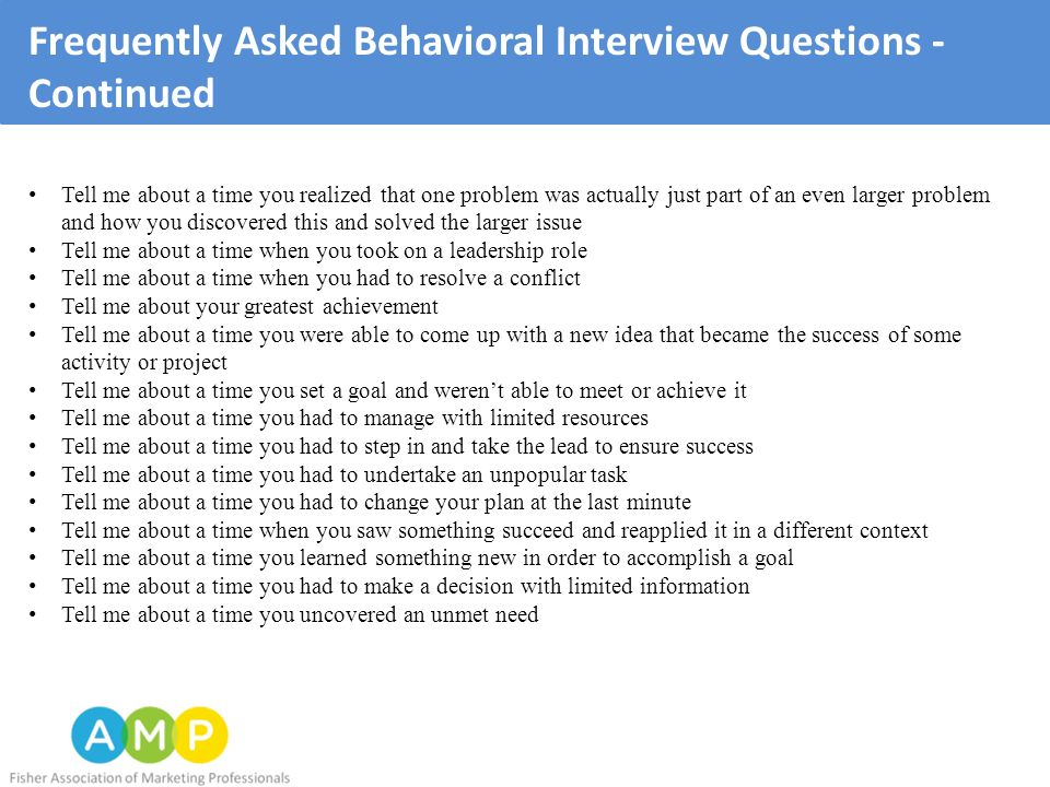 The AMP Interview Guide - ppt download