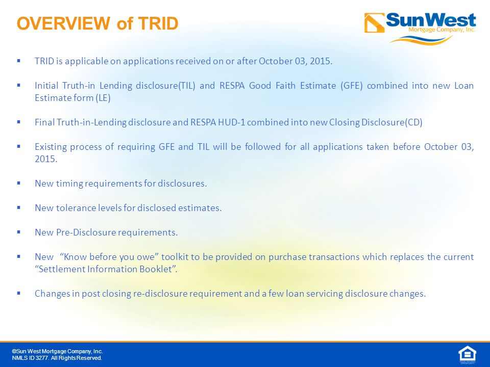 TILA RESPA Integrated Disclosures (TRID) - ppt download - Loan Estimate Form