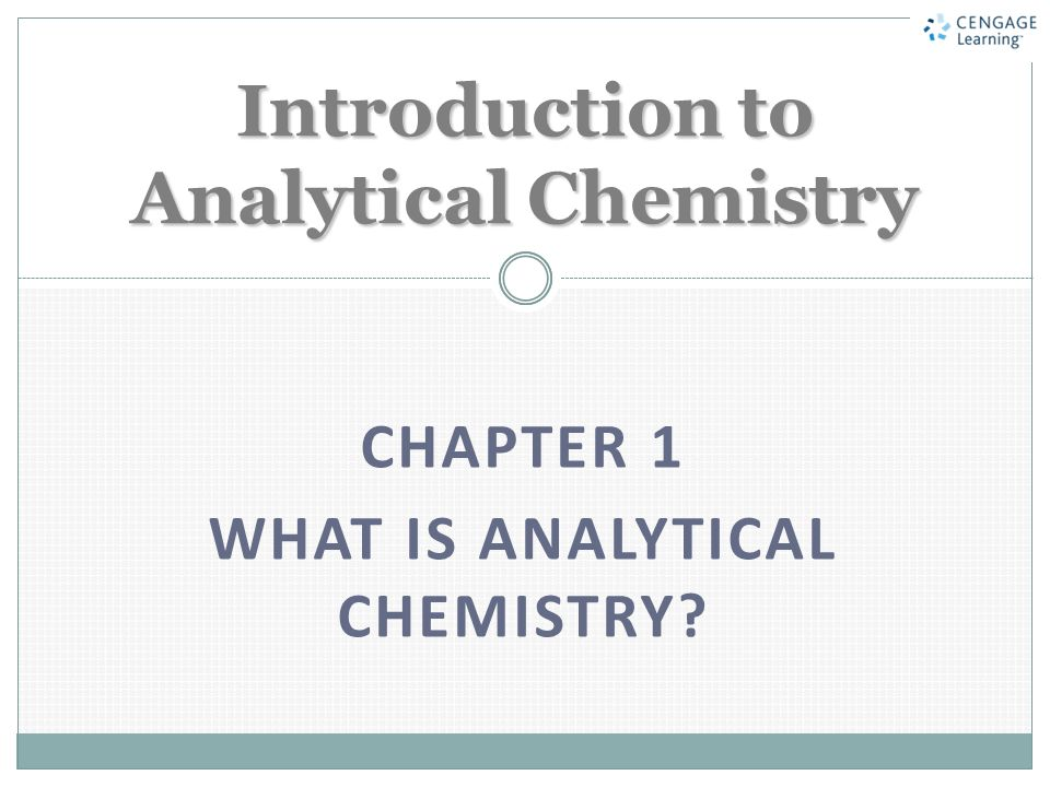 Introduction to Analytical Chemistry - ppt video online download