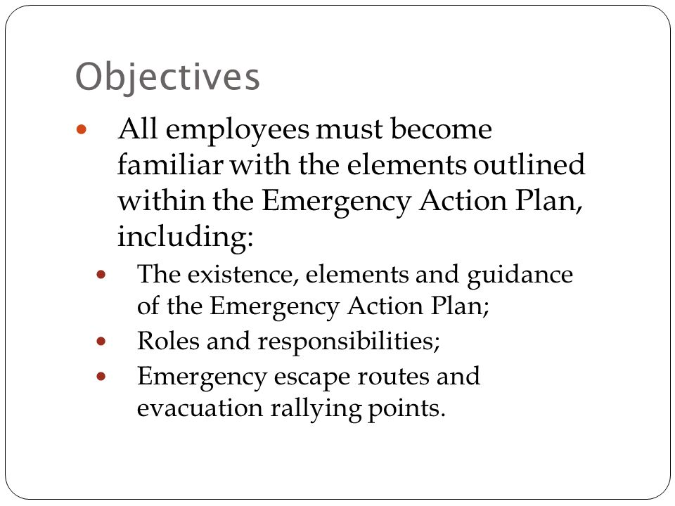 Emergency Action Plan and Response Training - ppt video online download