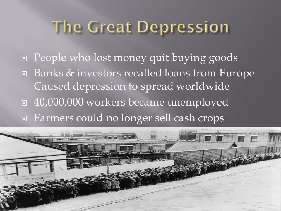 The Great Depression - ppt video online download
