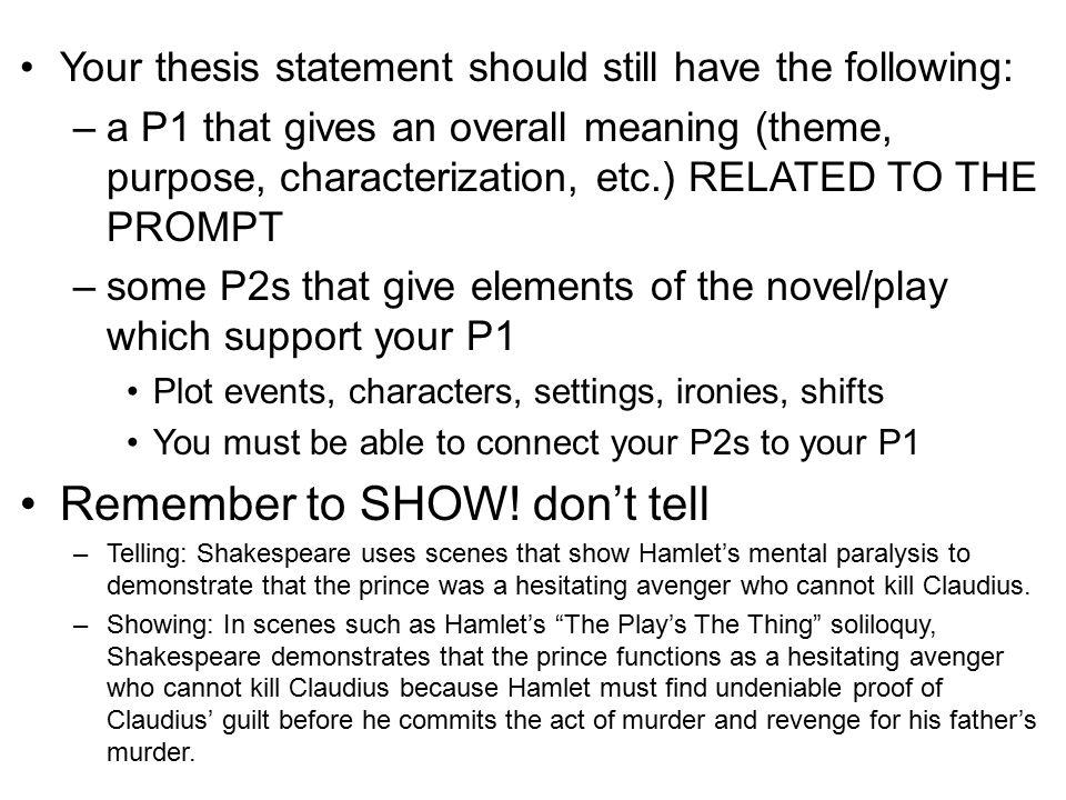 Hamlet revenge essay outline