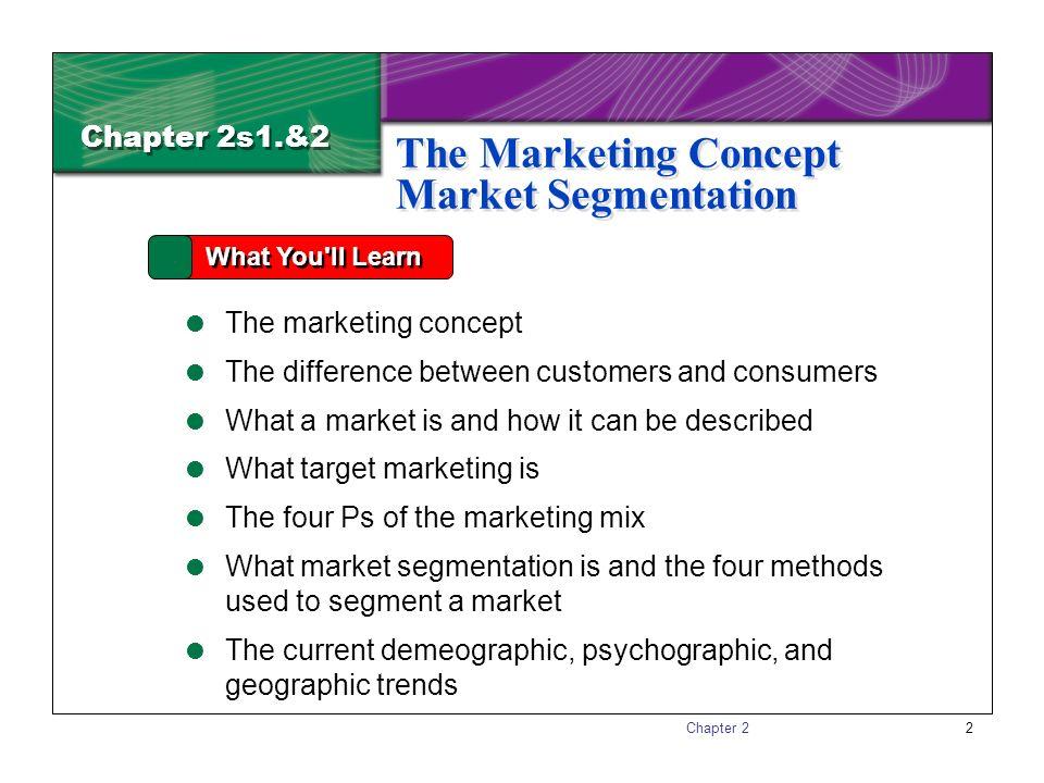 Marketing Essentials Section 12 Marketing Concept Market