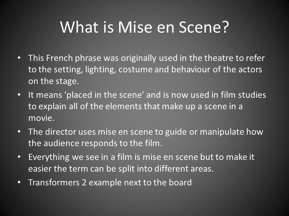 Film Studies Mise en Scene - ppt video online download