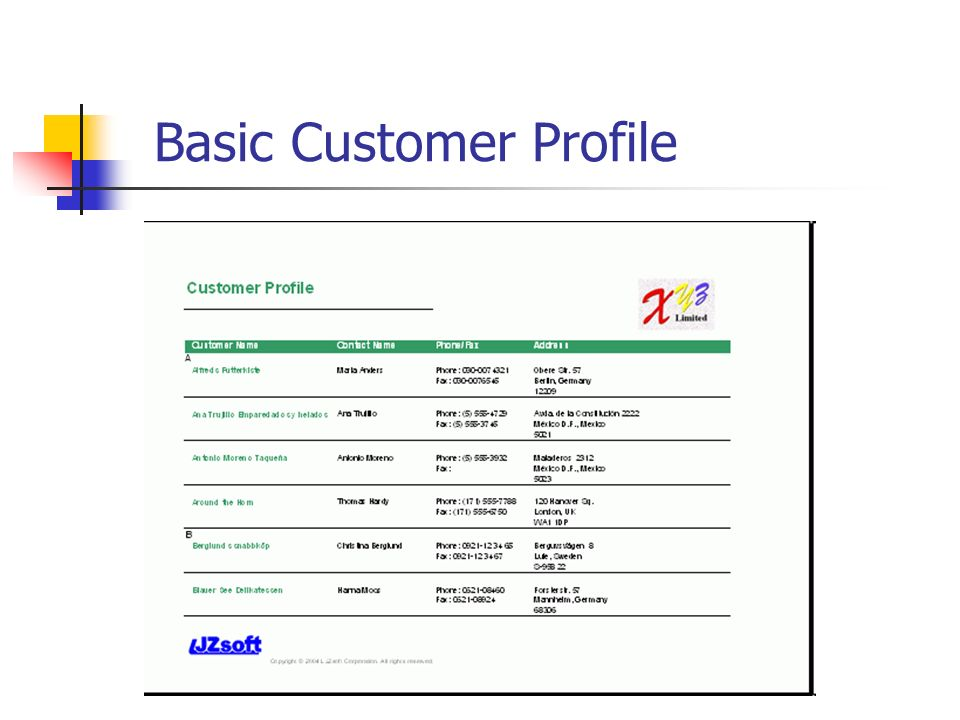 Session Customer Analysis - ppt video online download - customer profile