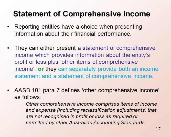 Topic 11 Statement of Comprehensive Income  Changes in Equity