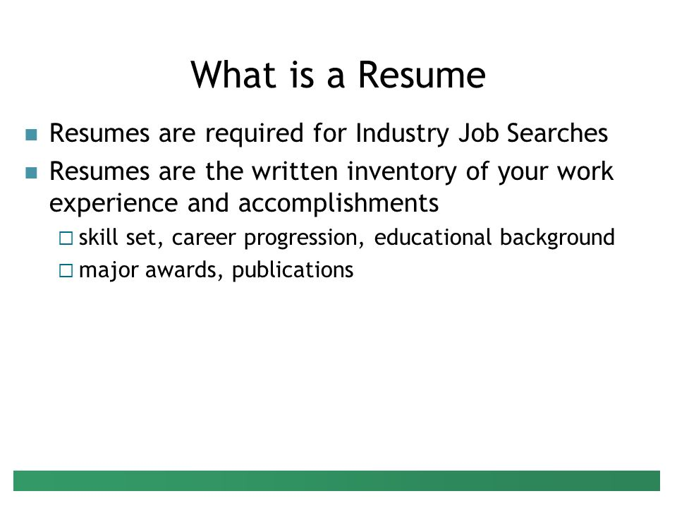 Preparing Your Resume Presenter Peter G Raeth, PhD - ppt video