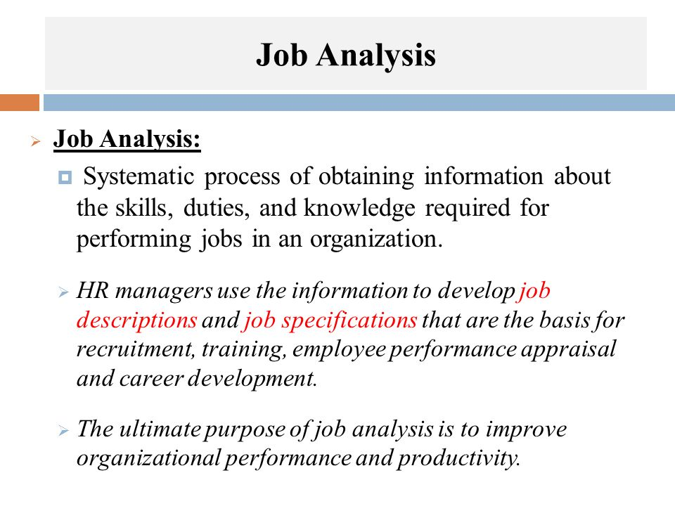 Chapter 5 Job Analysis - ppt video online download - job analysis