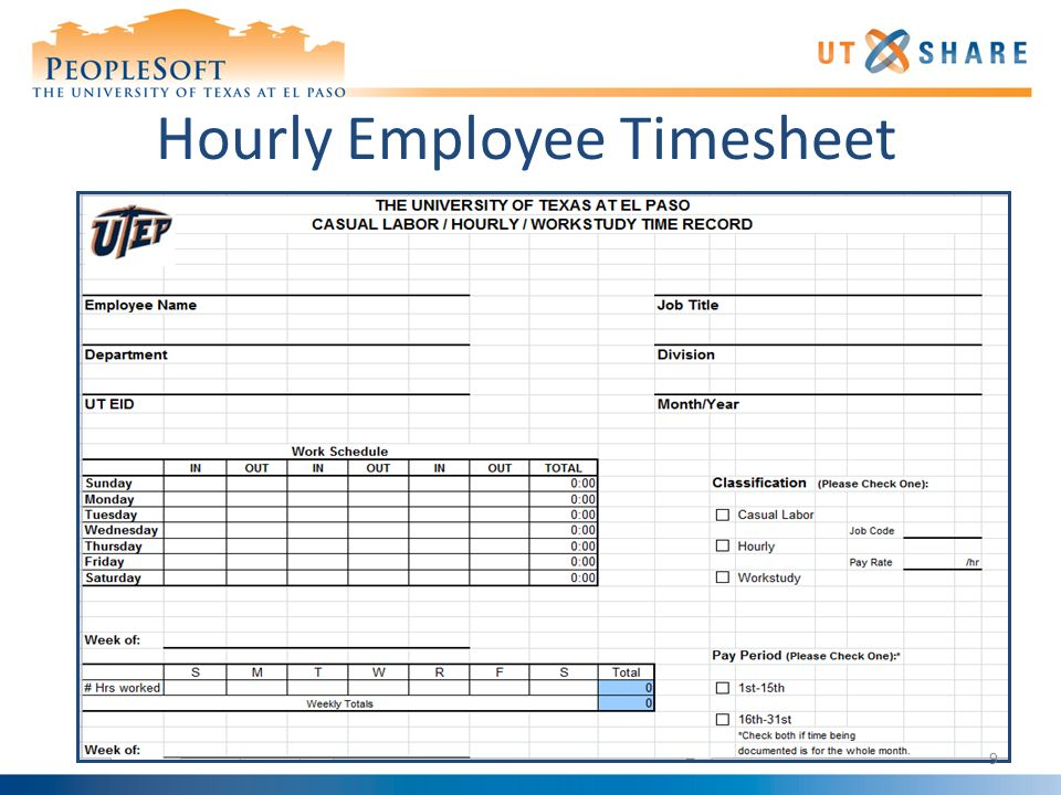Time Reporting Time Sheets - ppt download