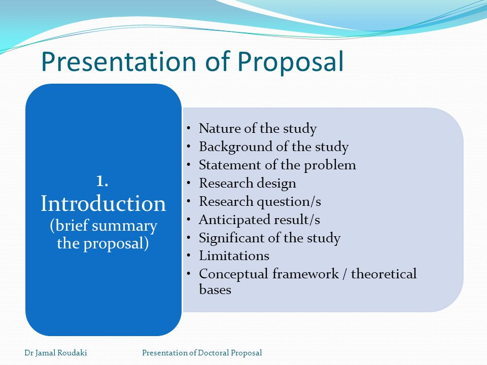 Presentation of Doctoral Proposal - ppt video online download