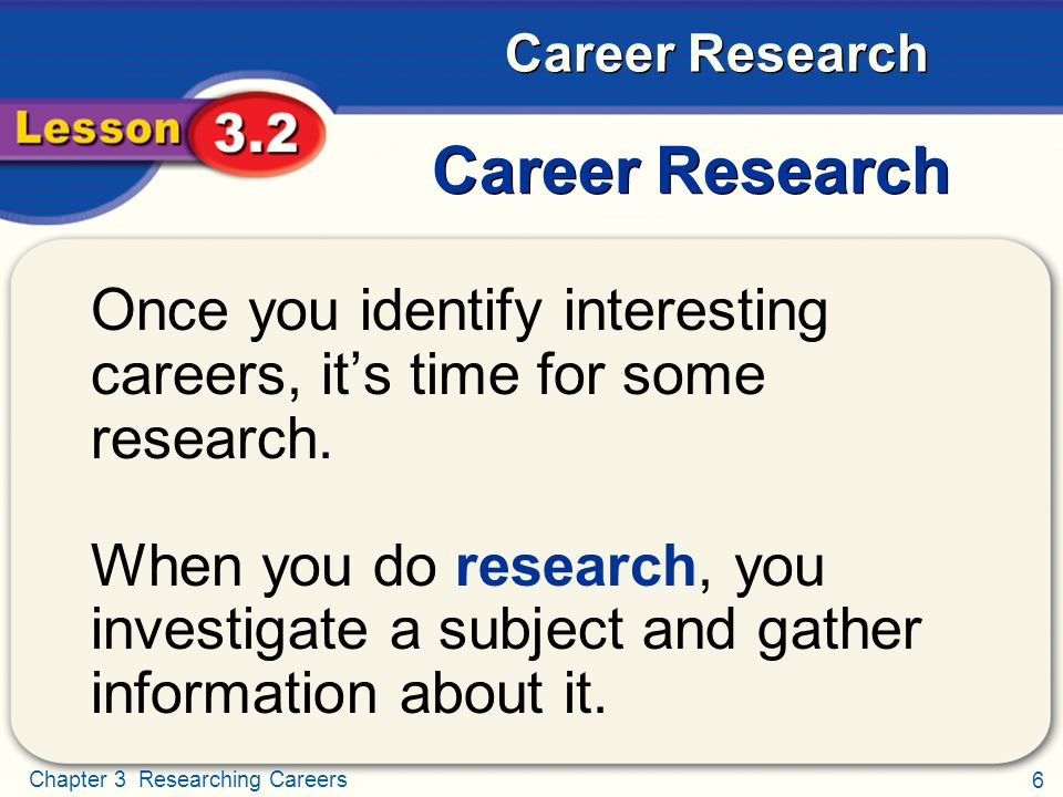 Researching Careers Career Research - ppt video online download