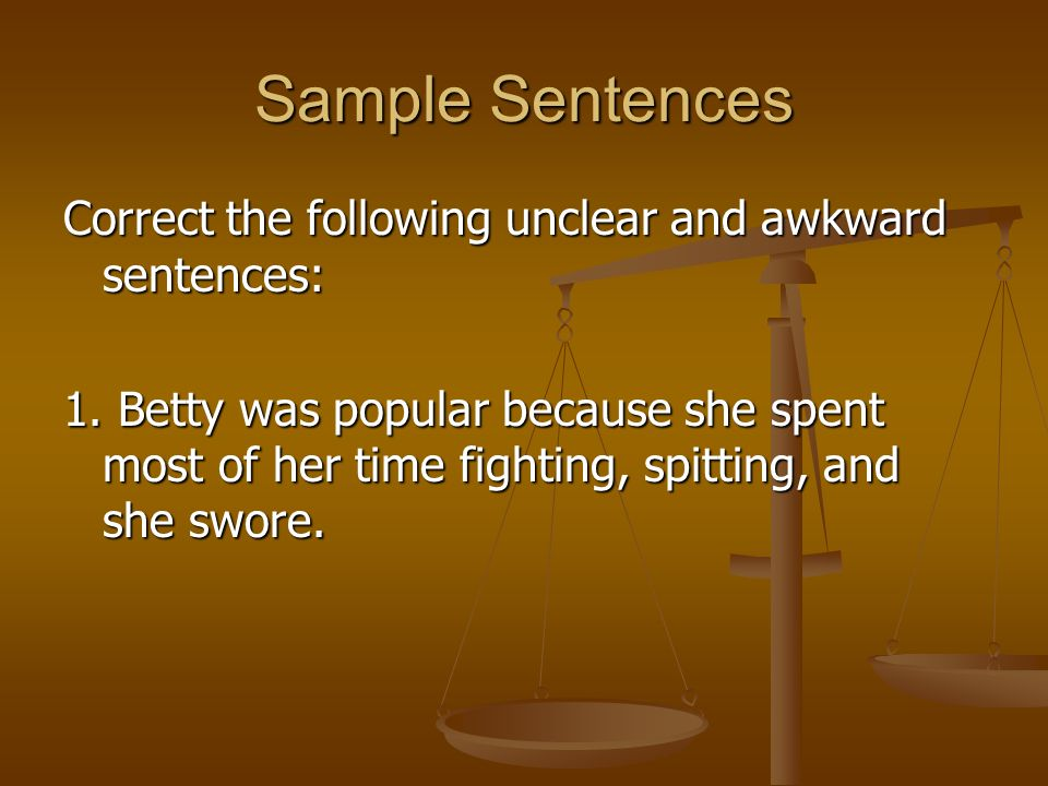 III Style 31 Clear Sentences - ppt download