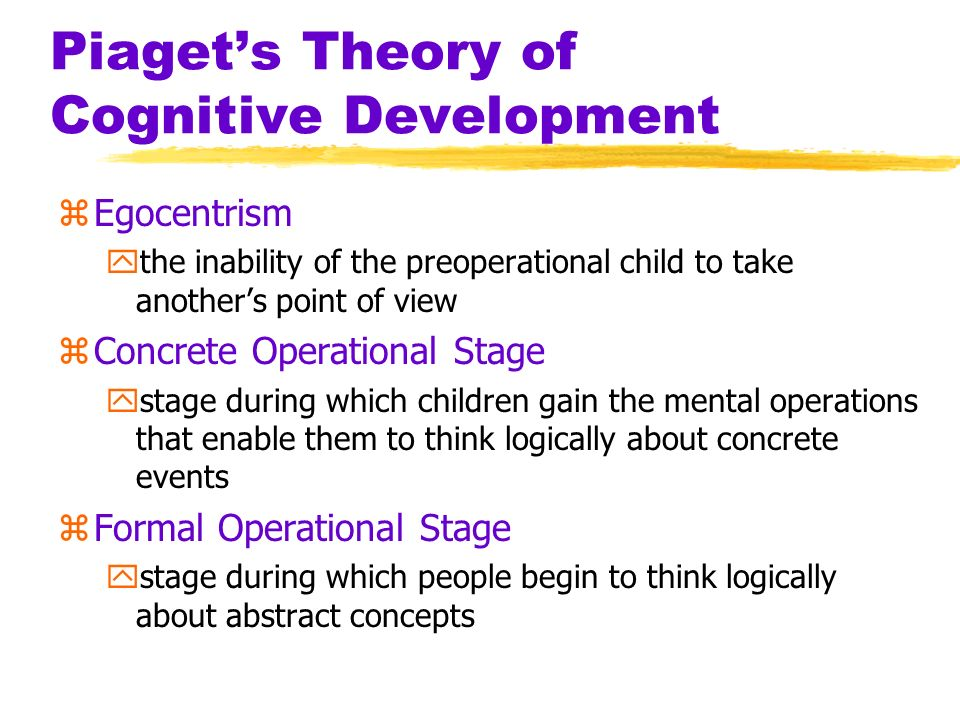 Essay on jean piaget theory of cognitive development Custom paper - piaget's theory