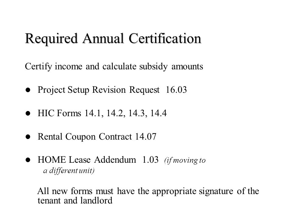 HOME Program Tenant Based Rental Assistance - ppt download