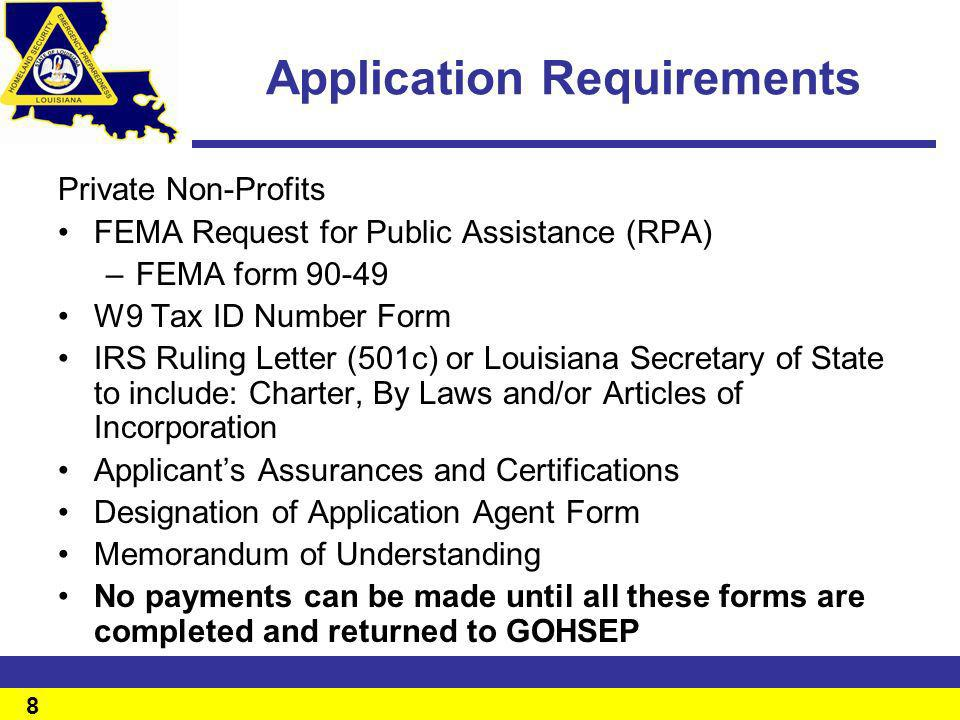Applicant\u0027s / Information Briefing - ppt download - fema application form