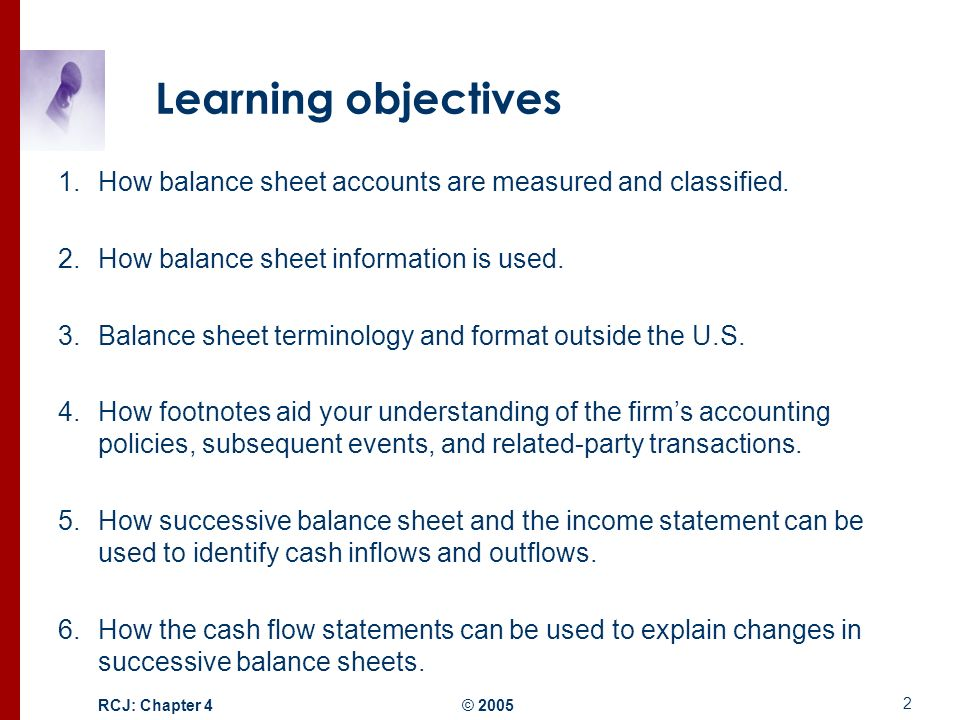Structure of the Balance Sheet and Statement of Cash Flows - ppt - balance sheet classified format