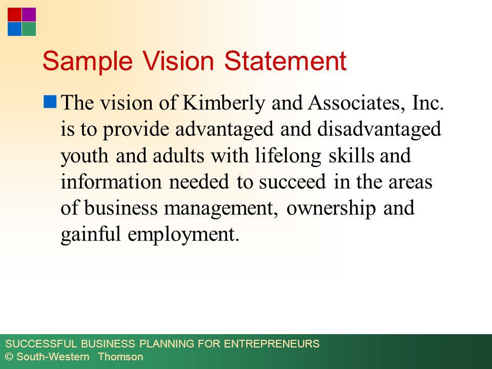 Sample Business Description And Vision15+example of personal vision
